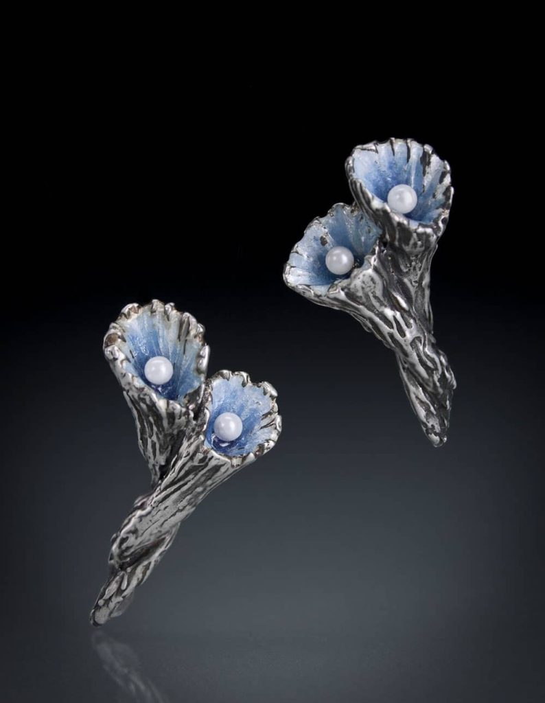 Blue Pearl Earrings by Julia Rai