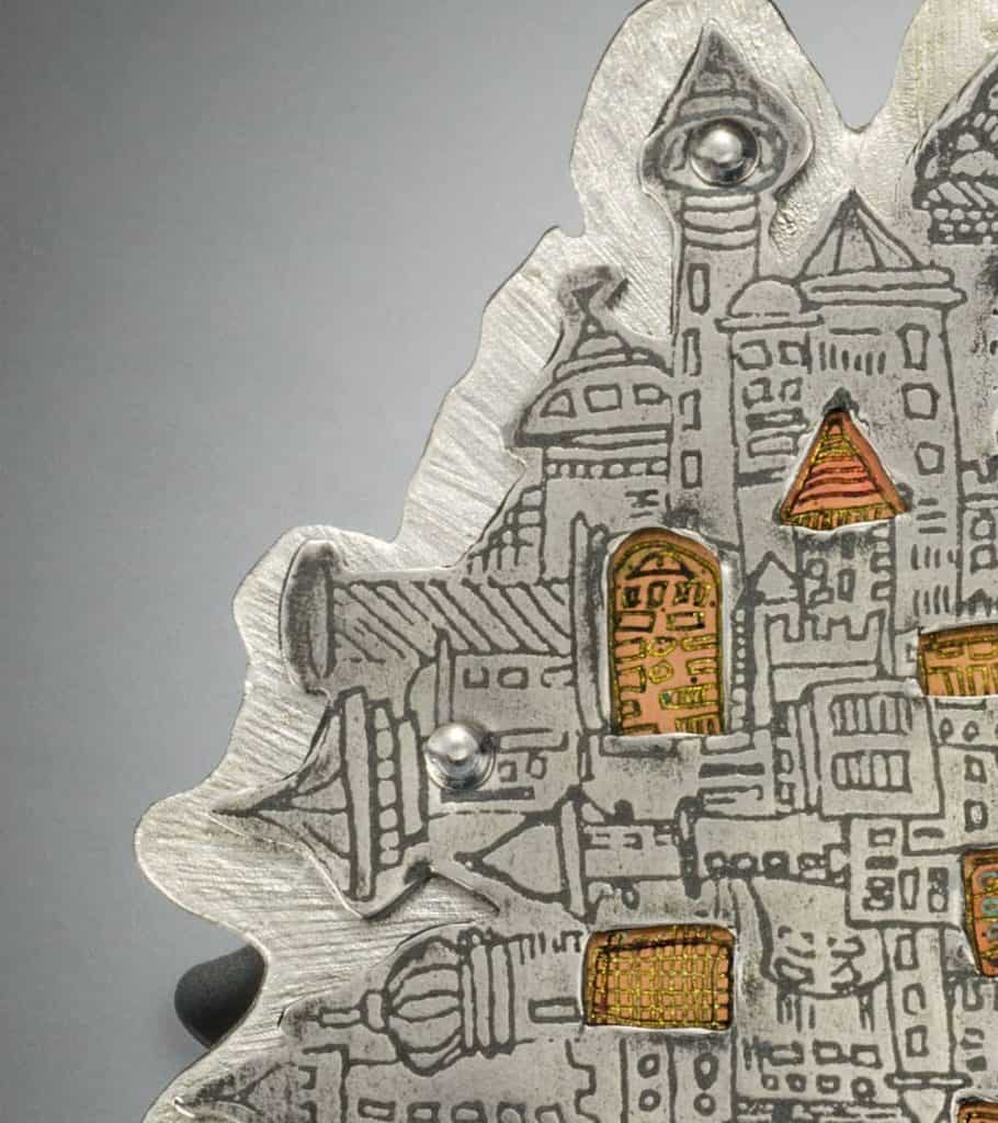Cities Brooch by Julia Rai