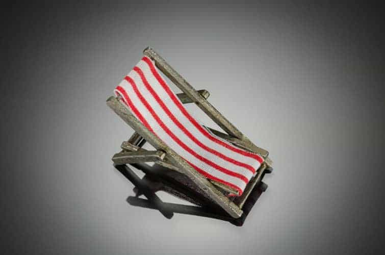 Miniature Deckchair by Julia Rai