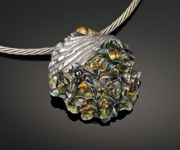 Shell pendant by Julia Rai