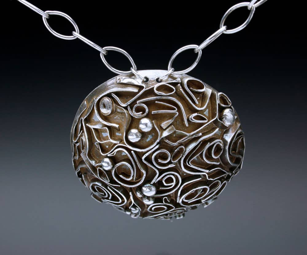 Domed textured necklace by Julia Rai