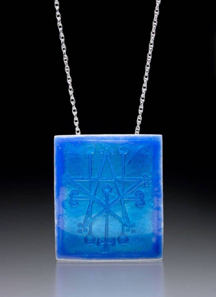 Enamel pendant by Julia Rai