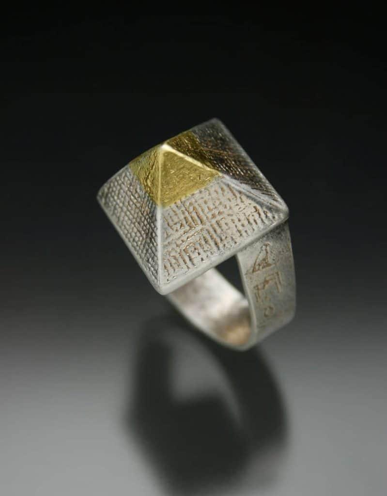 Pyramid Ring by Julia Rai