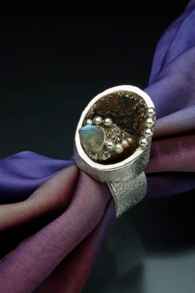 Scarf ring by Julia Rai