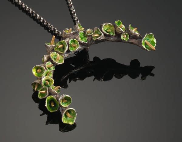 Green Pod Pendant by Julia Rai