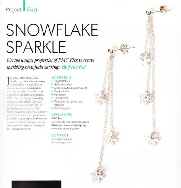 Snowflake Sparkle Earrings Tutorial by Julia Rai