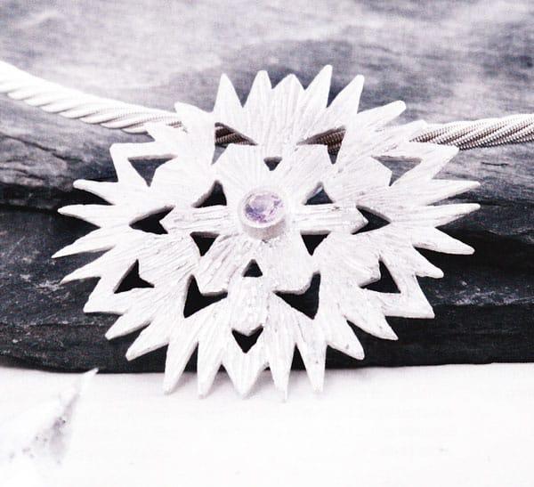 Snowflake pendant by Julia Rai