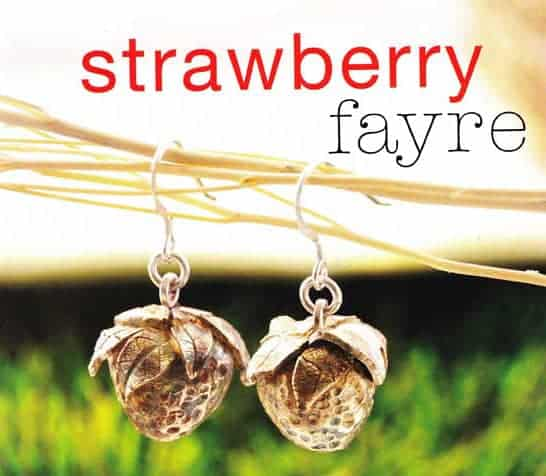Strawberry Earrings Tutorial by Julia Rai