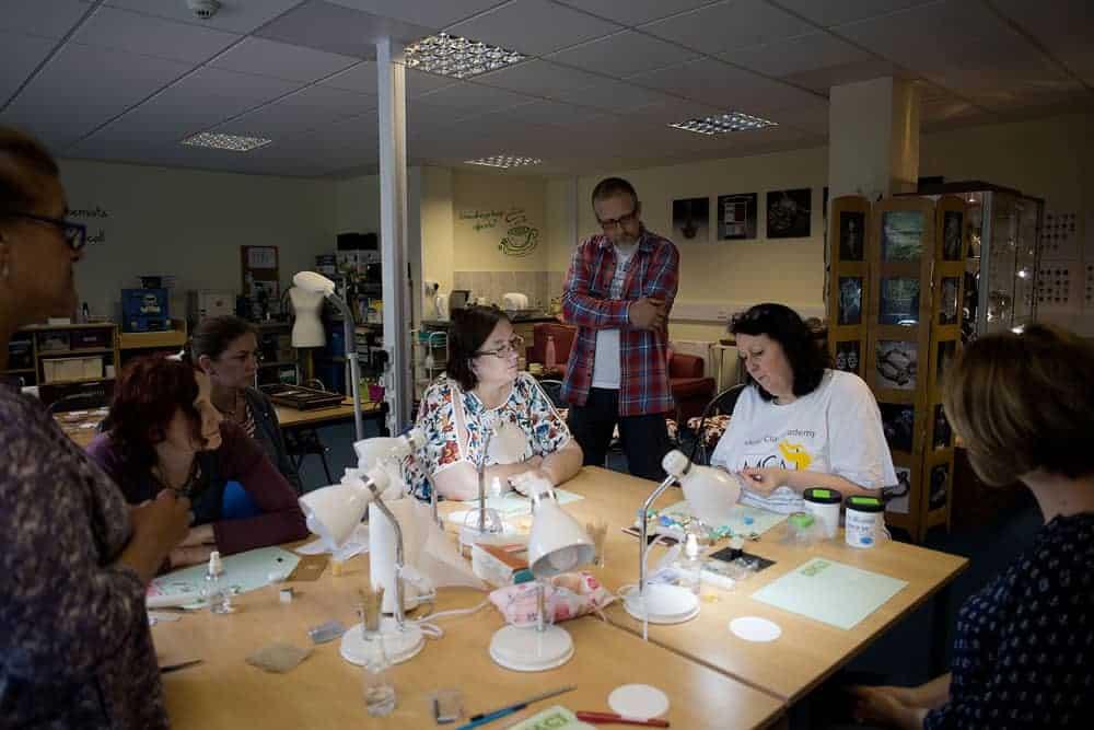 Julia teaching at the Cornwall studio