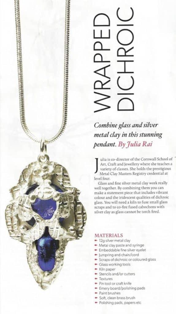 Wrapped Dichroic Pendant Tutorial by Julia Rai