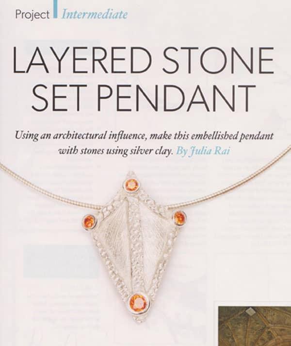 Layered Stone Set Pendant by Julia Rai