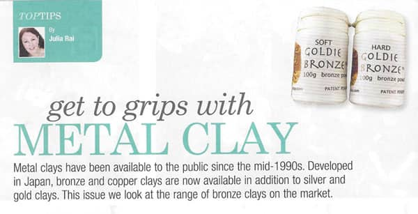 Get to Grips with Metal Clay 2 Article by Julia Rai
