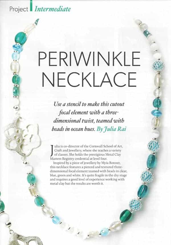 Periwinkle Necklace Tutorial by Julia Rai