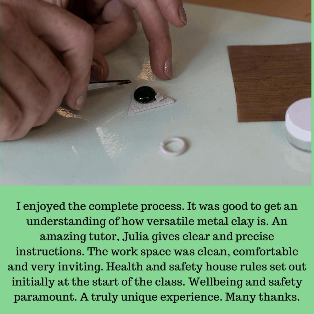 Metal Clay Class with Julia Rai Review