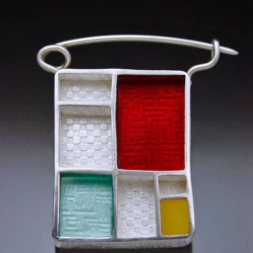 Mondrian Brooch by Julia Rai