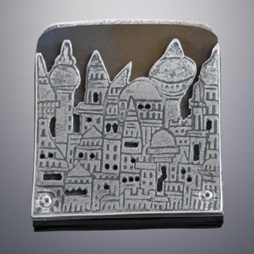 Silver and Titanium Brooch by Julia Rai